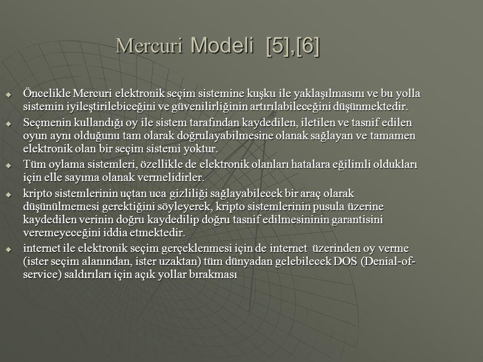 Mercuri Modeli [5],[6]